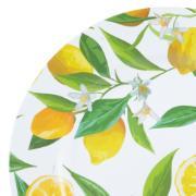 Sousplat Limão 33cm de Plástico Redondo - Rojemac
