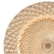 Sousplat de Plástico 33cm Redondo Dourado - Rojemac