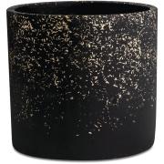 Cachepot em Cimento 15cm Preto - Mart