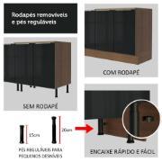 Torre Quente Lux 70cm 3 Portas Rustic Preto - Madesa