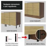 Torre Quente Lux 60cm 1 Porta e 3 Gavetas Rustic Carvalho - Madesa
