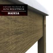 Conjunto Sala de Jantar Adriana Mesa Tampo de Madeira com 6 Cadeiras Rustic - Madesa