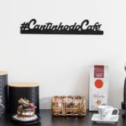 Placa Decorativa Cantinho do Café 40cm - Metaltru