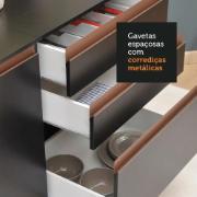 Cozinha Compacta Reims com Balcão 5 Portas e 3 Gavetas Preto - Madesa