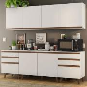 Cozinha Completa Reims 240cm com Armário e Balcão Branco - Madesa