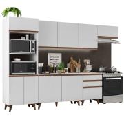 Cozinha Completa Reims 320cm com Armário e Balcão Branco - Madesa