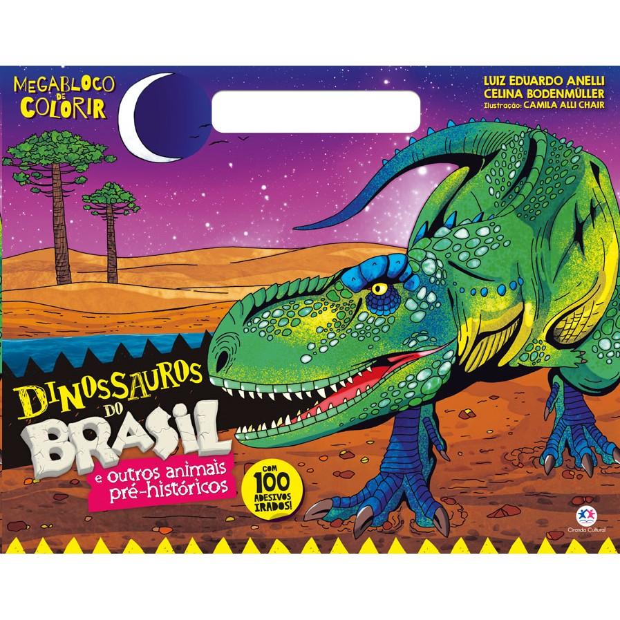 Livro de Colorir Dinossauros do Brasil - Ciranda Cultural