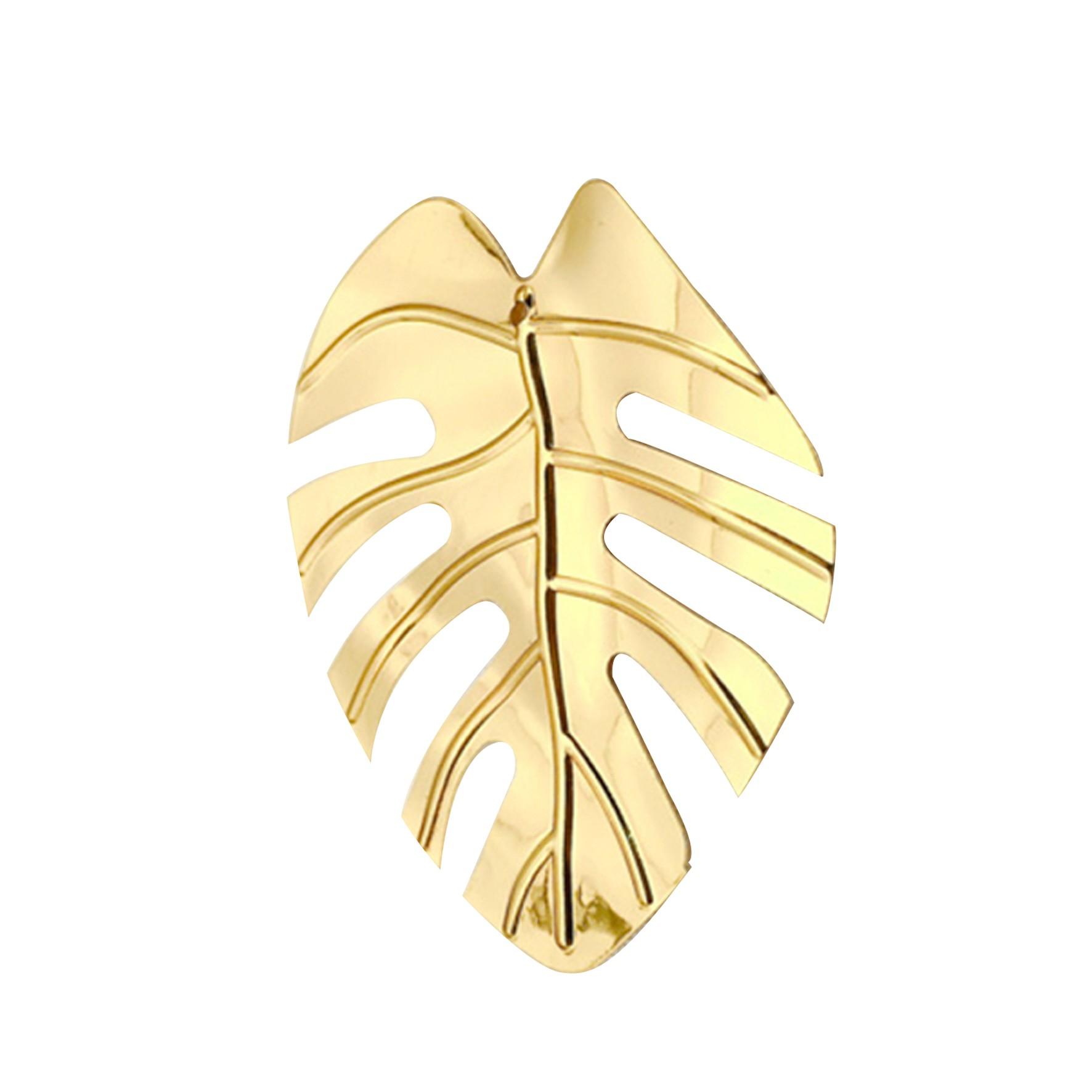 Argola para Guardanapo Costela de Adao Dourada - Magizi