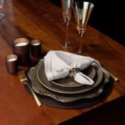 Sousplat Corinto Antique Polipropileno 33cm Champagne - Copa&Cia