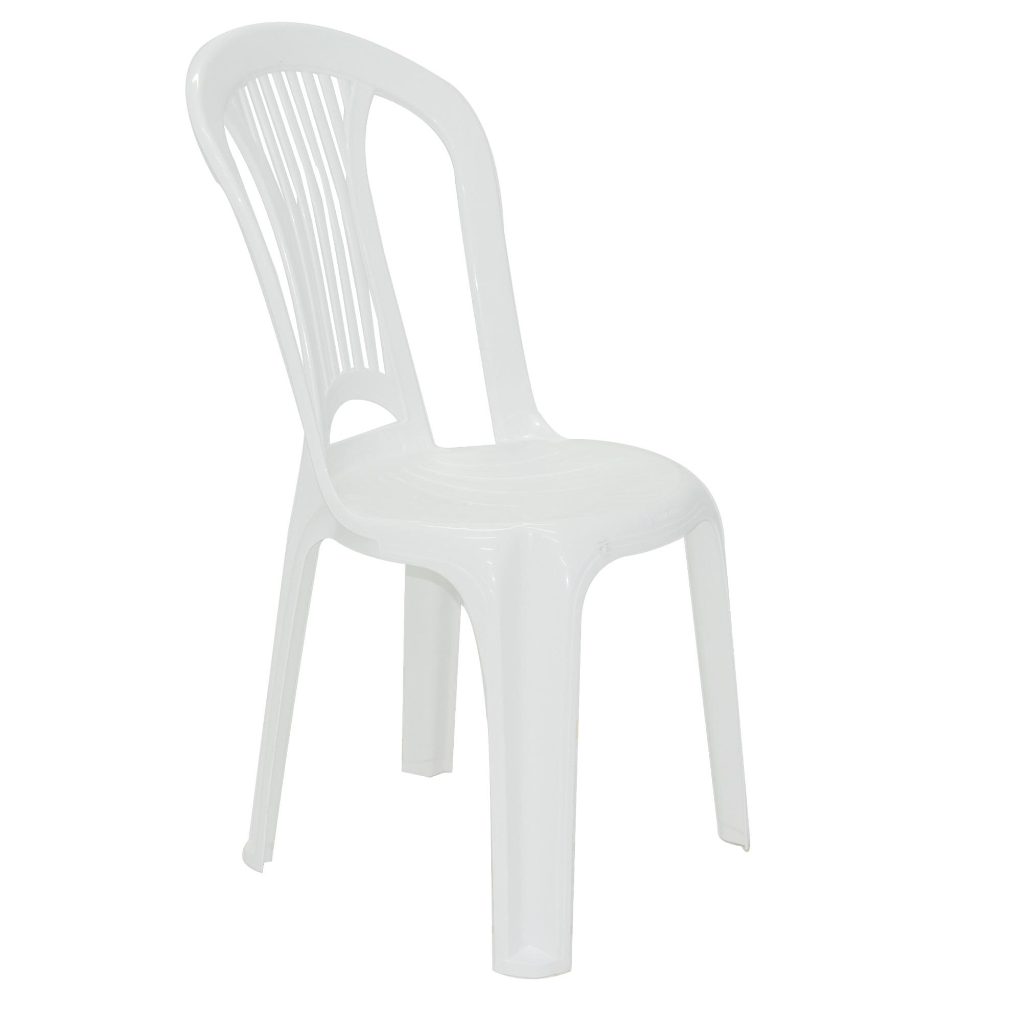Cadeira Plastica Branca Tramontina Atlantida Basic Bistro