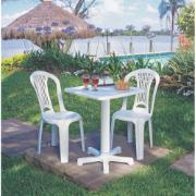 Cadeira Plástica Branca Tramontina Atlântida Basic Bistrô