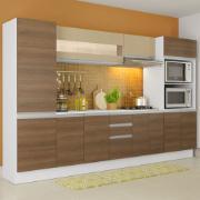 Cozinha Completa MDF Smart Modulada com Armário Branco Rustic - Madesa