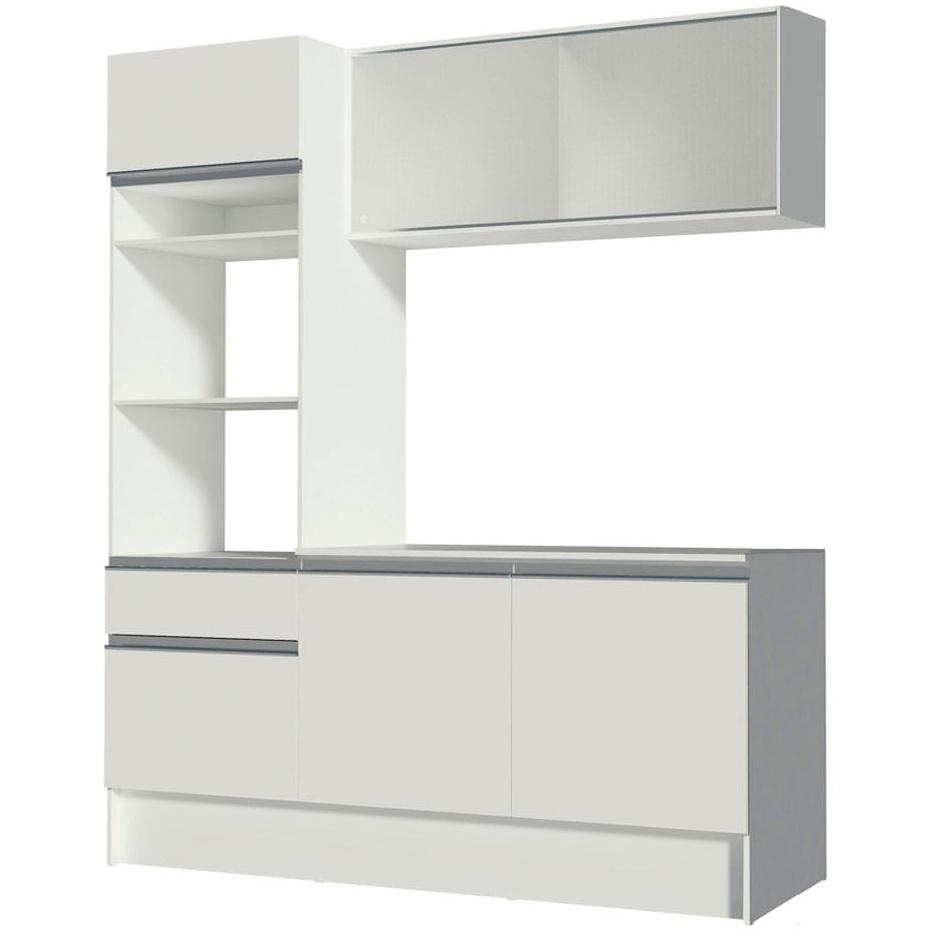 Cozinha Compacta Topazio com Balcao Branco - Madesa