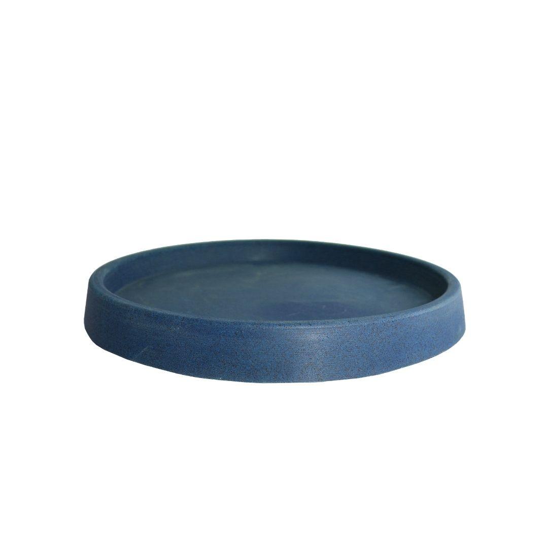 Prato Vaso para Plantas Polietileno 28cm Azul - Vasap