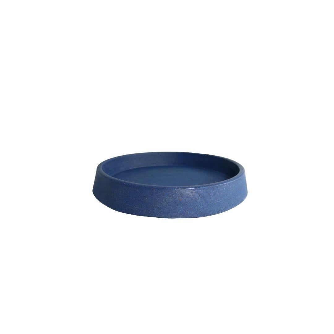 Prato Vaso para Plantas Polietileno 21cm Azul - Vasap