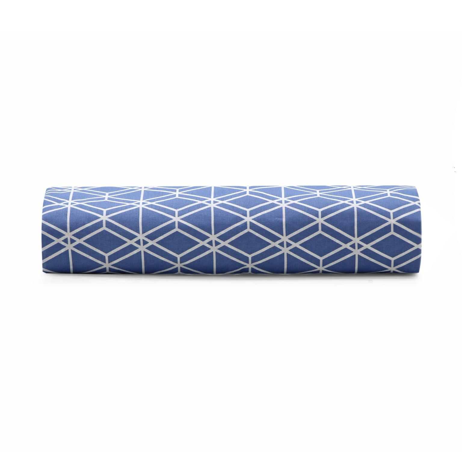 Lencol Queen Royal com Elastico 160x200x30 cm 100 algodao Azul - Santista