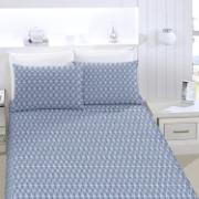 Lençol Queen Royal com Elástico 160x200x30 cm 100% algodão Azul - Santista