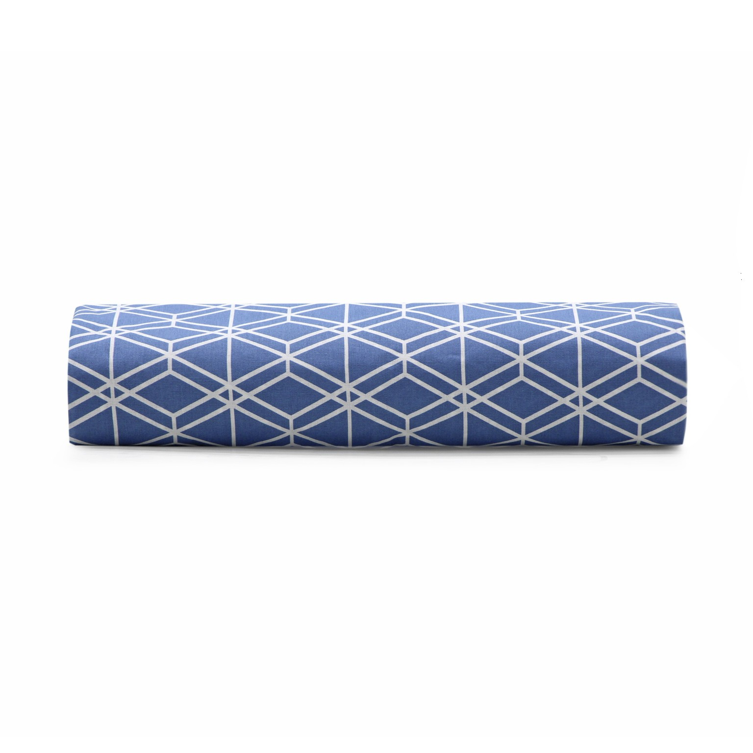 Lencol Solteiro Royal com Elastico 100 algodao 90x190x30 cm Azul - Santista