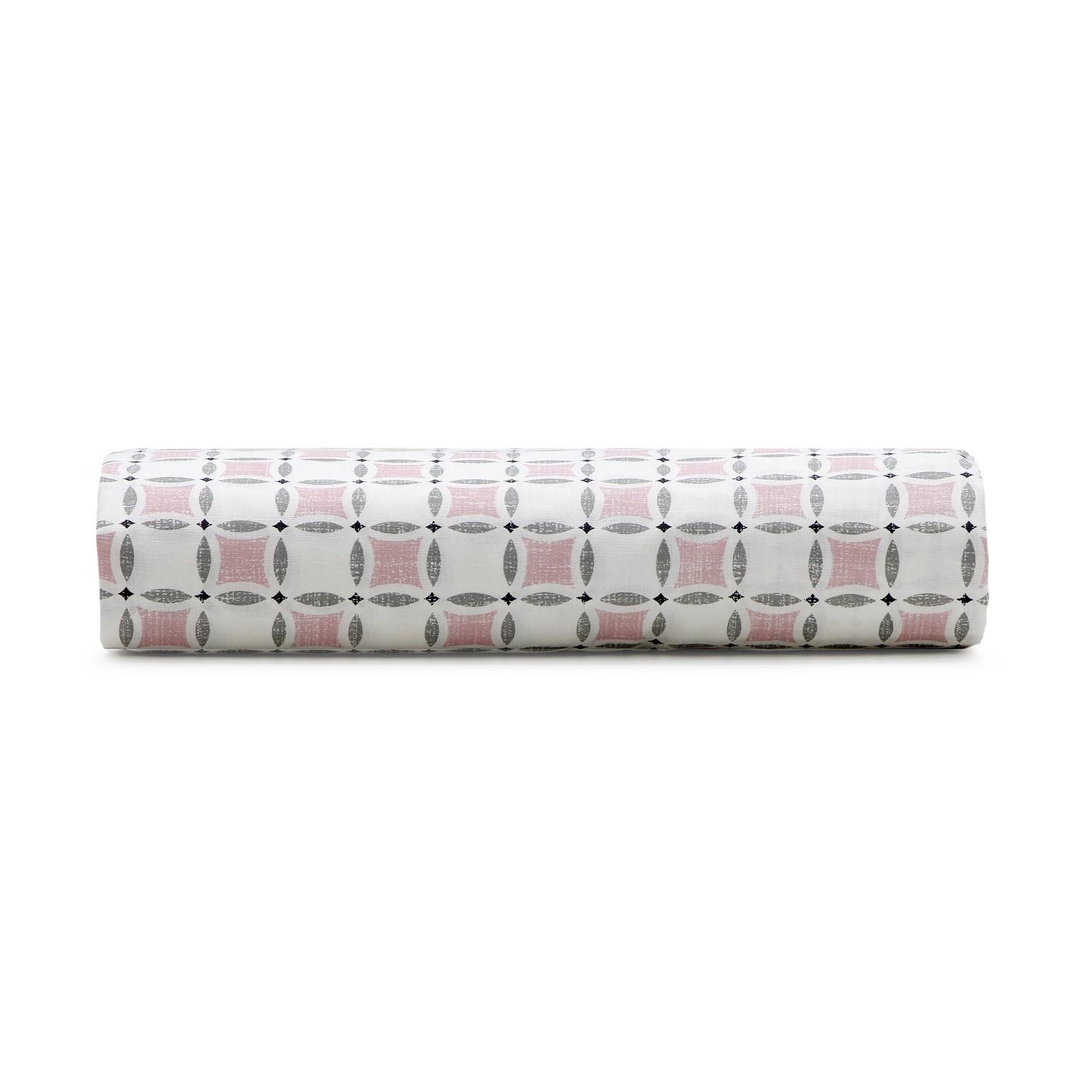 Lencol Solteiro Royal com Elastico 100 algodao 90x190x30 cm Rosa - Santista