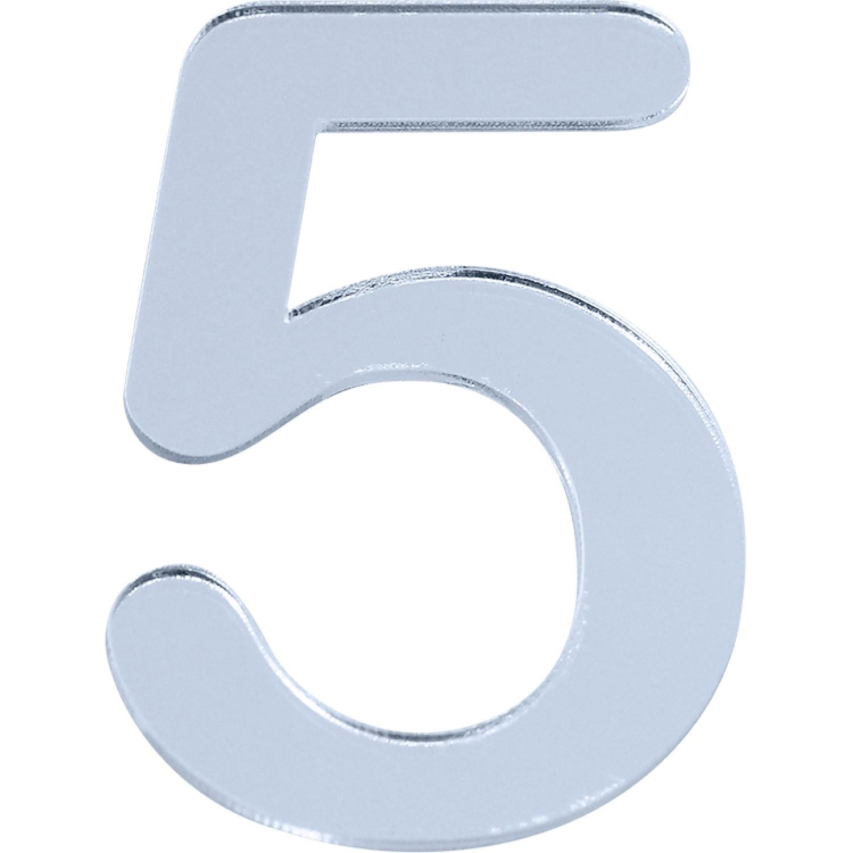 Numero 5 em Acrilico Espelhado - Acrilico Design