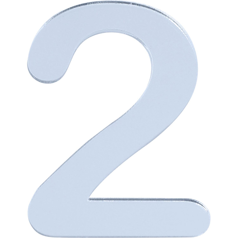 Numero 2 em Acrilico Espelhado - Acrilico Design
