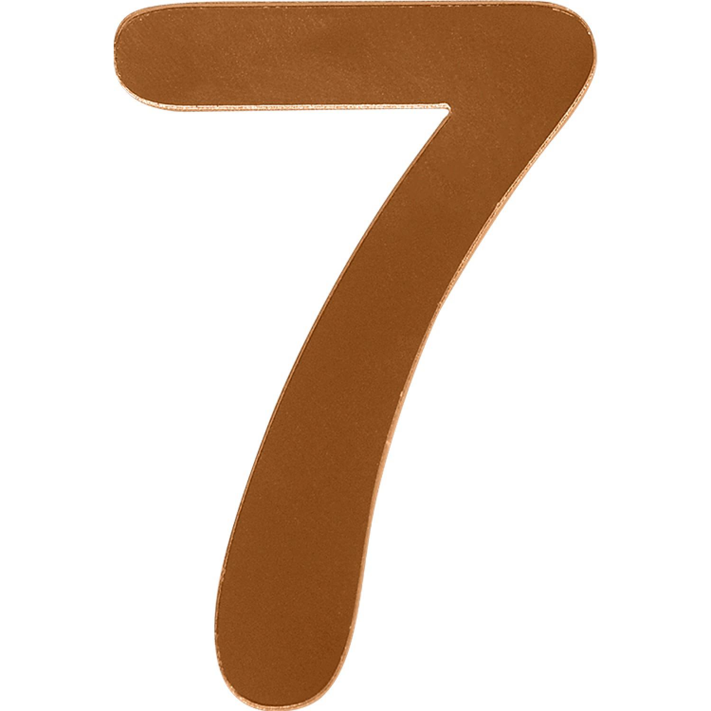 Numero 7 em Acrilico Espelhado Bronze - Acrilico Design