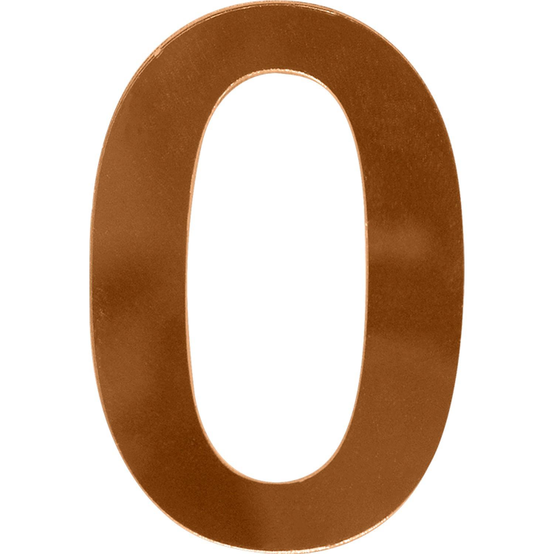 Numero 0 em Acrilico Espelhado Bronze - Acrilico Design