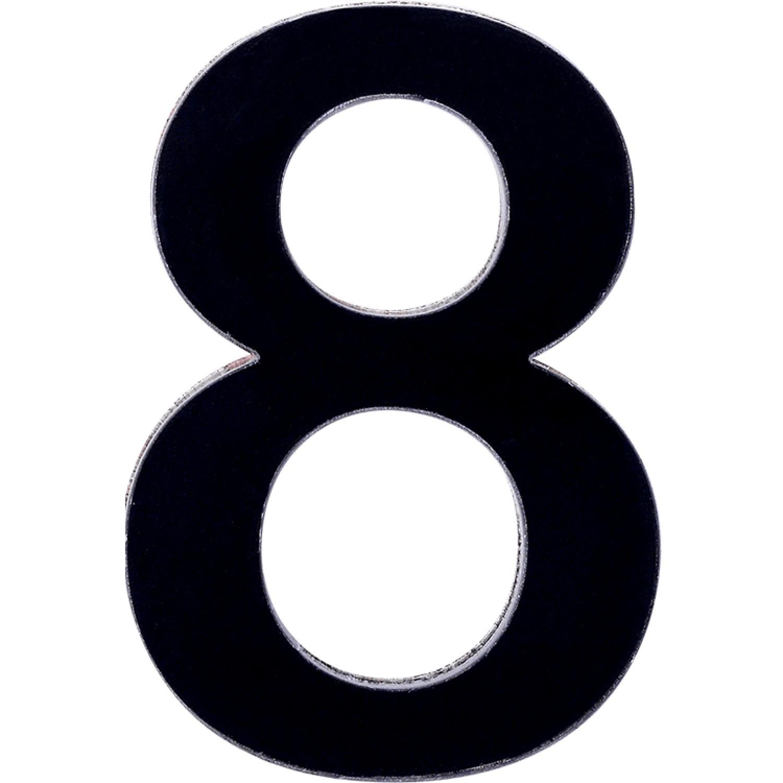Numero 8 em Acrilico Espelhado Preto - Acrilico Design