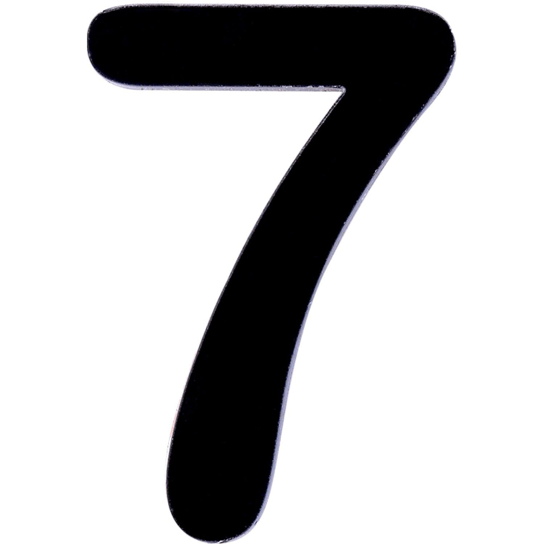 Numero 7 em Acrilico Espelhado Preto - Acrilico Design