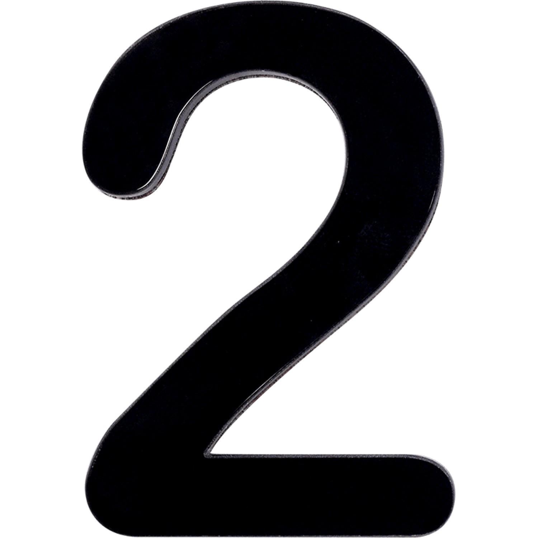 Numero 2 em Acrilico Espelhado Preto - Acrilico Design