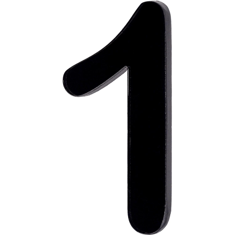 Numero 1 em Acrilico Espelhado Preto - Acrilico Design