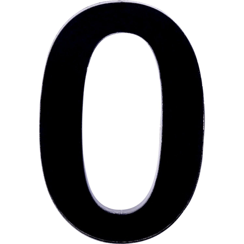Numero 0 em Acrilico Espelhado Preto - Acrilico Design