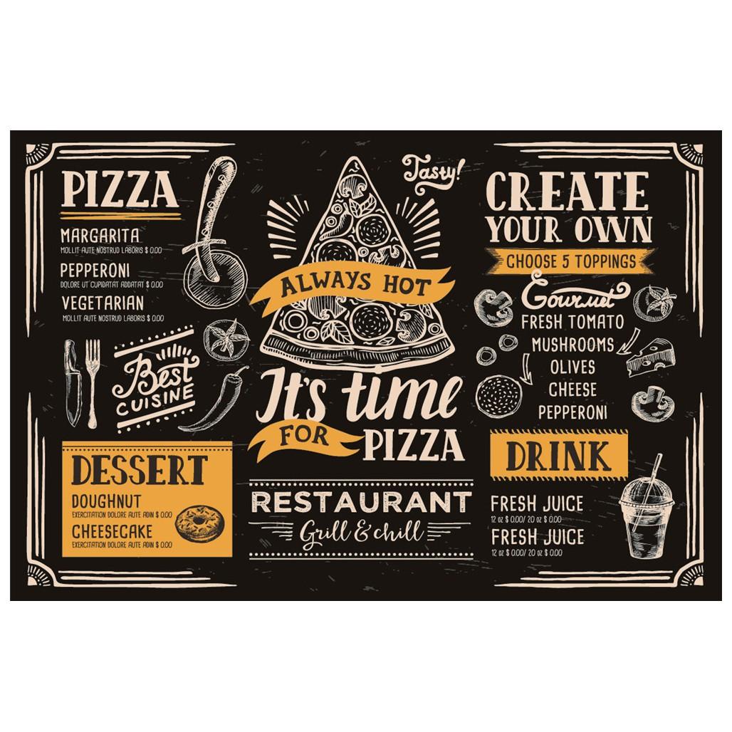 Tabua Pizza em Vidro para Corte 20x30cm Preta - Full Fit