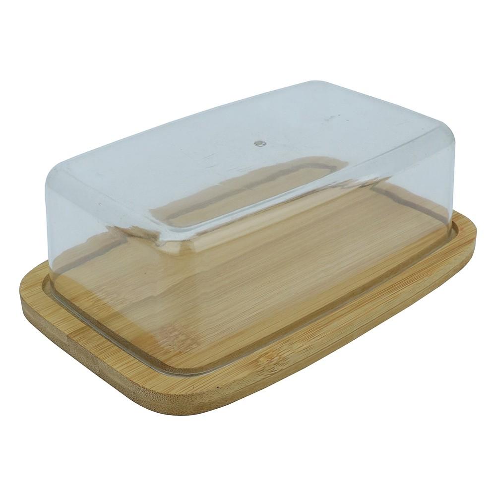 Manteigueira de Bambu 125x19cm com Tampa de Plastico - Full Fit