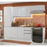 Cozinha Compacta Madesa 100% MDF Acordes Com Armário e Balcão Portas Branco Brilho