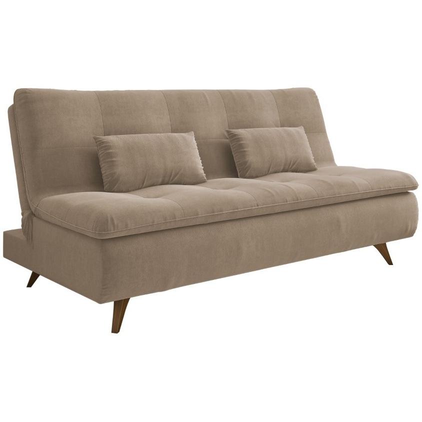 Sofa Cama Maira Reclinavel Veludo 98X88X58 - Spazzio