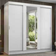 Guarda-Roupa Casal Reno 3 Portas de Correr Branco - Madesa