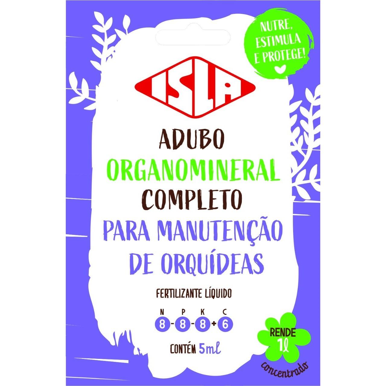 Fertilizante Organomineral para Orquideas 5ml - Isla Sementes