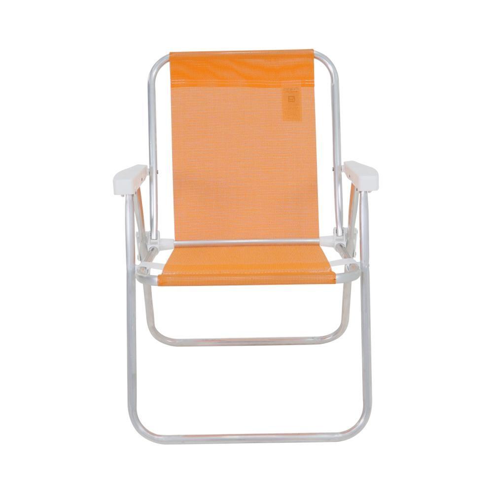 Cadeira Alta Lazy de Aluminio Sannet Laranja - Bel