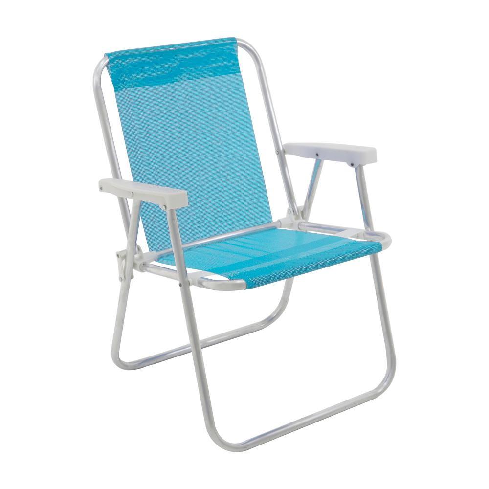 Cadeira Alta Lazy Aluminio Sannet Turquesa - Bel