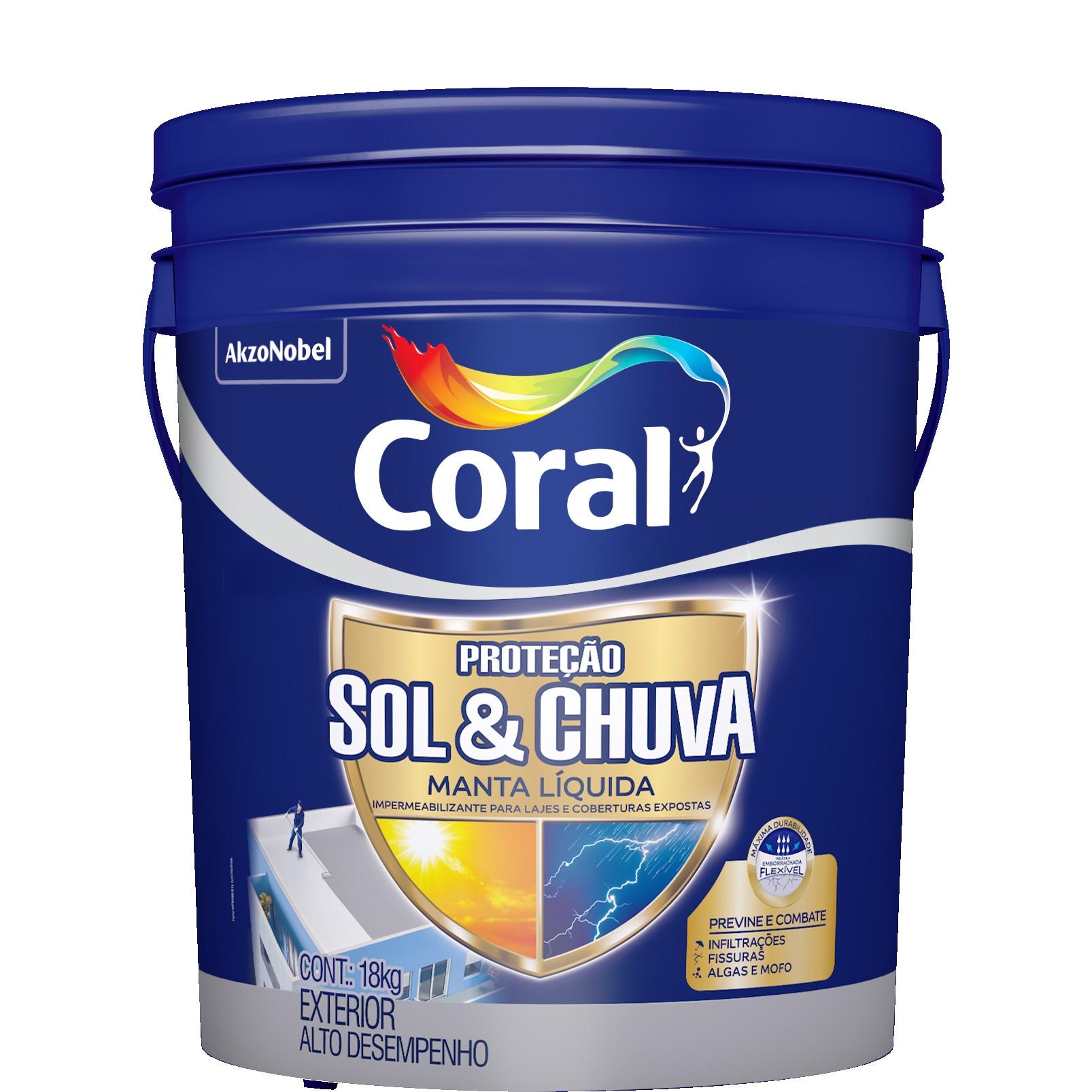 Impermeabilizante Fosco Liquido 18kg Branco - Coral