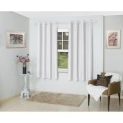 Cortina Corta Luz de Tecido 260x170cm Rubi Branca - Bella Janela