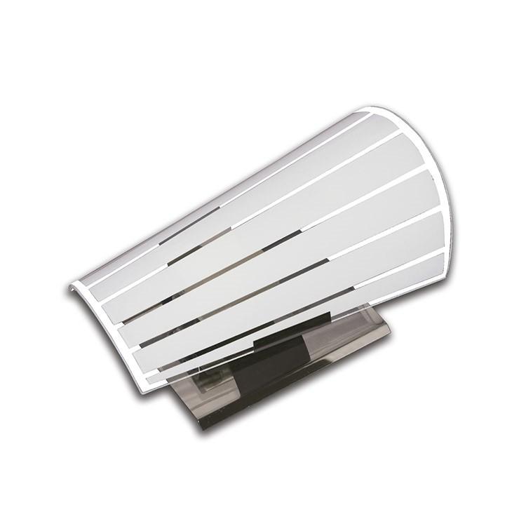 Arandela Paulistinha Lisa Vidro e Aluminio - Suegil