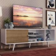 Rack Madesa Dubai para TV até 65 Polegadas com Pés Branco/Rustic 9B09