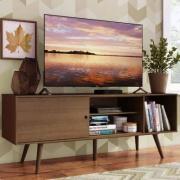 Rack Madesa Cairo para TV até 65 Polegadas com Pés de Madeira Rustic