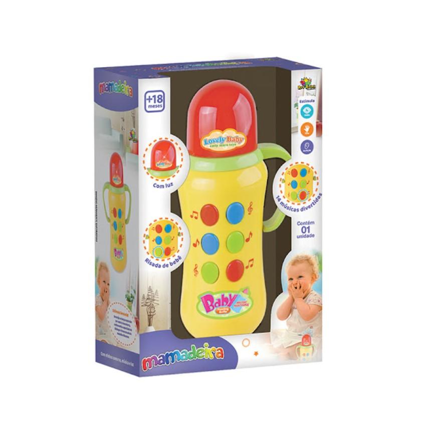 Brinquedo Mamadeira Musical Colorida - Zein