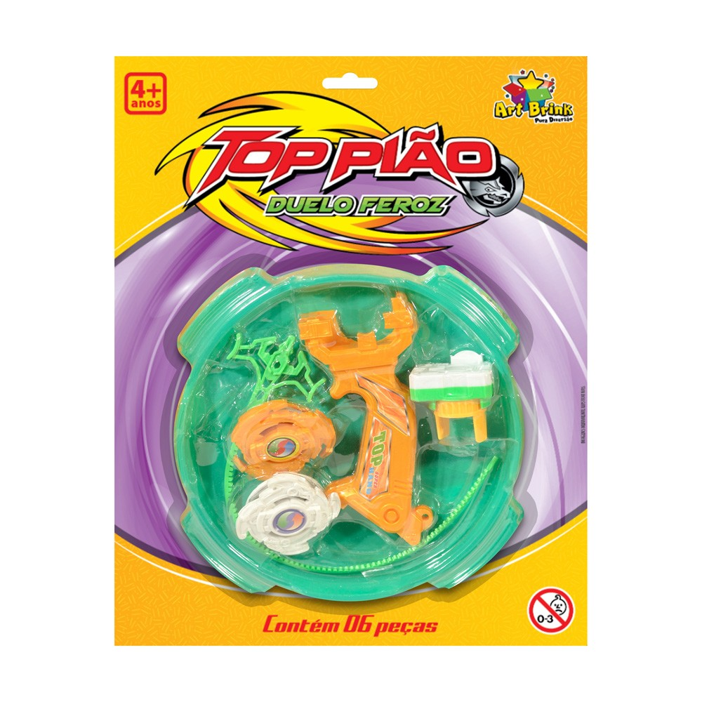Kit Piao Plast com Arena de Batalha 6 Pecas - Zein