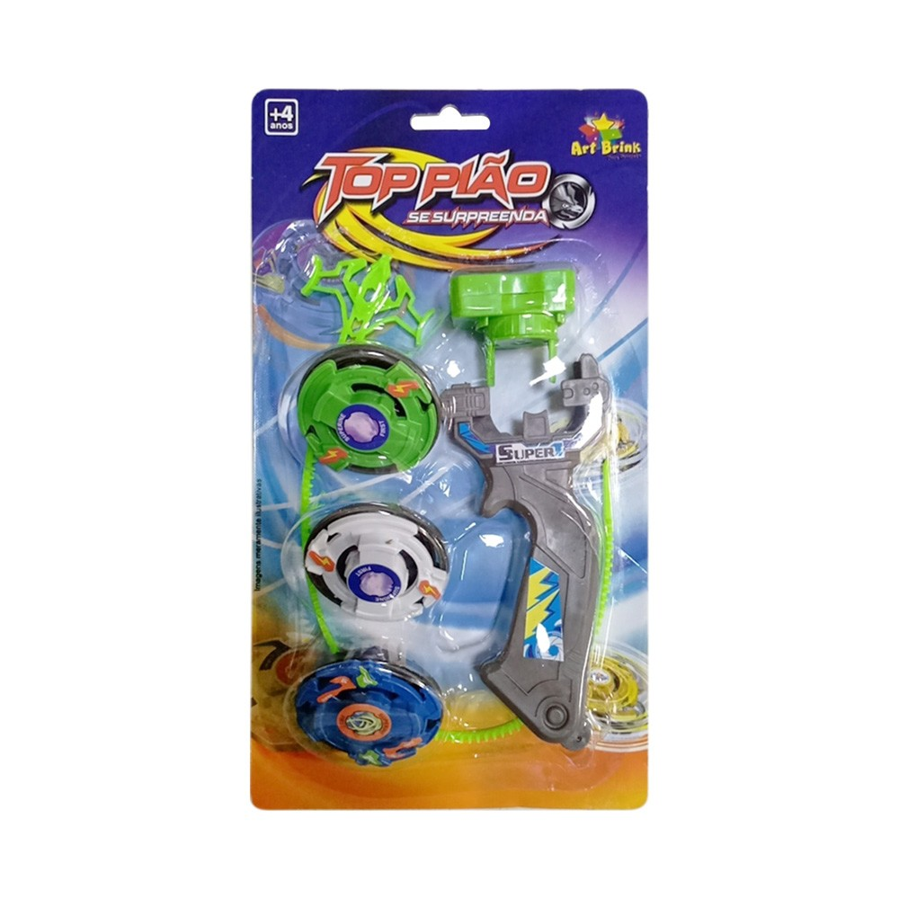 Brinquedo Piao com Lancador 6 Pecas Colorido - Zein