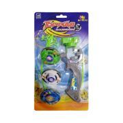 Brinquedo Pião com Lançador 6 Peças Colorido - Zein