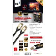 Cabo HDMI 2.1V 8K 144HZ ULTRA HD Speed 3 Metros Preto - ELG